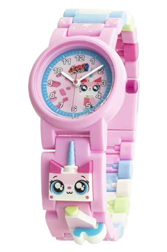 Horloge Lego Movie 2 - unicitty, inclusief 12 extra armbanden schakels, Lego minifiguur geïntegreerd in de armband, analoge wijzerplaat, krasbestendig acrylglas