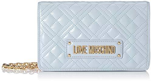 Love Moschino Jc4010pp1a, Borsetta da Polso Donna, Blu (Nuvola),...
