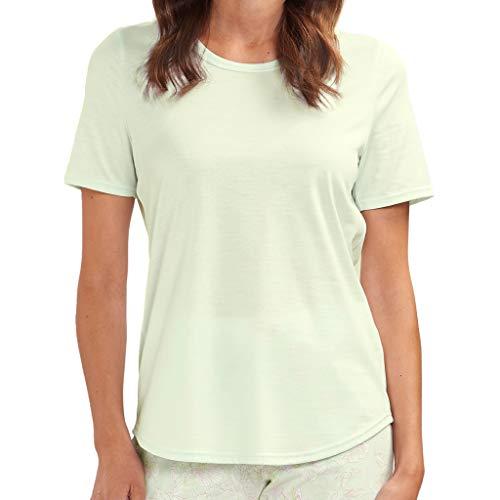 Rösch - Damen Schlafanzug Shirt - Kurzarm (36 Mellow Green)