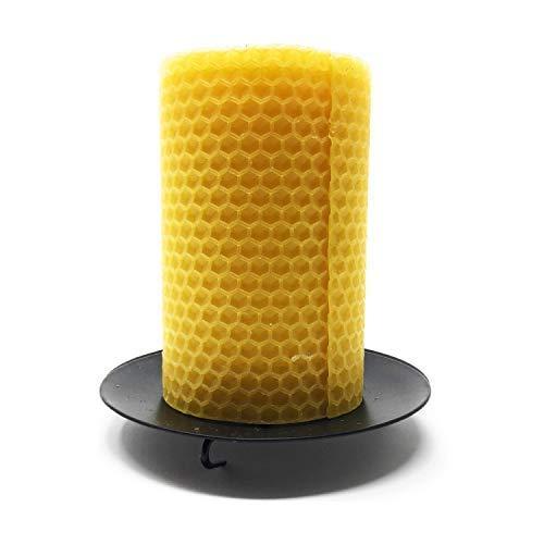Vine Rituale® Schwarz Metall Spike Säule Kerzenhalter. Die beste, um Ambiente zu Hause, Hochzeiten und Partys, Schwarz , 10 cms