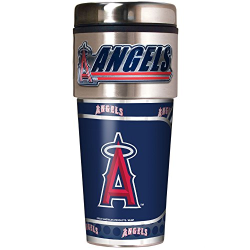 MLB Los Angeles Angels Metallic Travel Tumbler,  16-Ounce