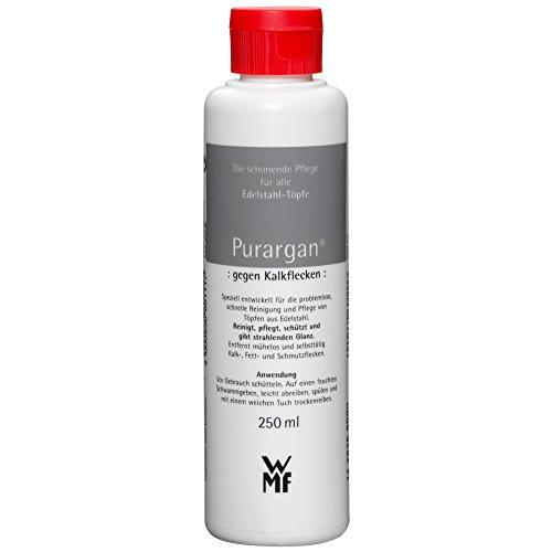 WMF Purargan Pflegemittel 250ml, Reinigungsmittel gegen Kalkflecken, für Edelstahl-Töpfe
