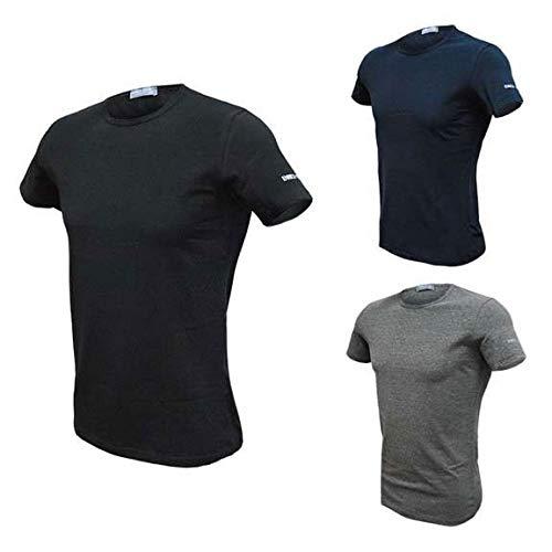 Enrico Coveri T-Shirt Uomo Girocollo 3 pz. (6, Assortito)