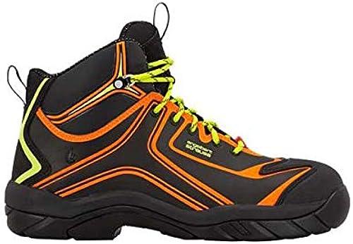 Enamarilloert Strauss 8p93.75.1.36zapatos de seguridad kajam, 36, Color negro reflectante, Color naranja amarillo de adverdeencia