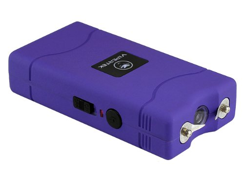 VIPERTEK VTS-880 - 30 Billion Mini Stun Gun - Rechargeable with LED Flashlight, Purple