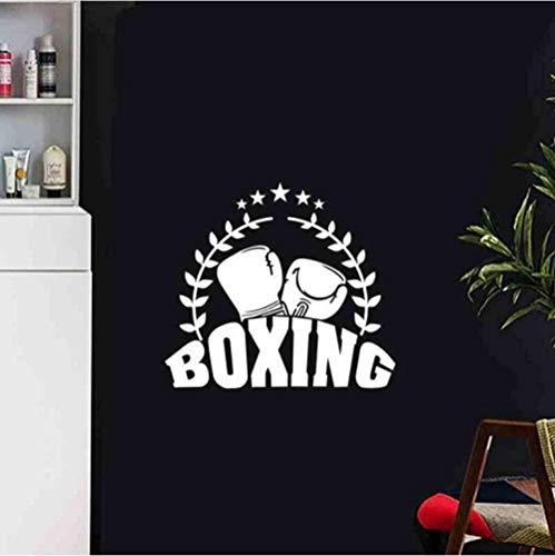 Kunst Wandaufkleber Hauptdekoration Wandtattoos Boxhandschuhe Aufkleber Kickboxer spielen Abziehbilder Kampf Plakate vorwärts Blume 58X65Cm