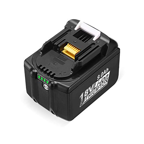 Upgraded BL1860 18V 9000mAh Lithium-ion Replacement for Makita 18V BL1830 BL1840 BL1850B BL1860 BL1860B 194205-3 194309-1 Cordless Power Tools Batteries with LED Indicator