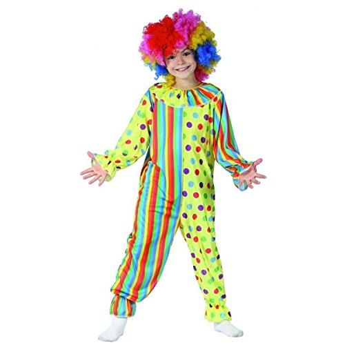 DEGUISE TOI Déguisement Clown coloré Enfant - M 7-9 Ans (120-130 cm)