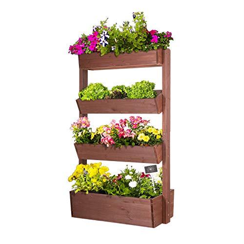empasa Vertikales Hochbeet 'Raise 4' Blumenkasten Pflanzkübel Frühbeet Kräuterbeet