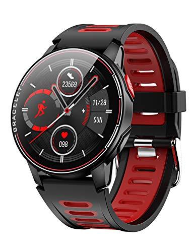 Smartwatch Herren Android Pulsmesser Smartwatches Fitness Uhr mit Blutdruckmessung Sport Armband Laufuhr Schrittzähler Wasserdicht Stoppuhr