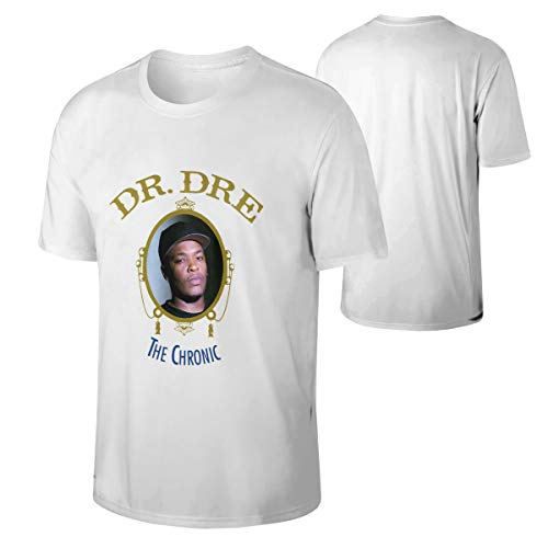 Cotton Dr DRE The Chronic T Shirts Man Youth Short Sleeves Unique T-Shirt White XL