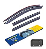 Goodyear Side Window Deflectors for Nissan Rogue 2014-2020, Tape-on Rain Guards, Window Visors for Cars, Vent Deflector, Vent Visor, Car Accessories, 4 pcs- GY003121LP