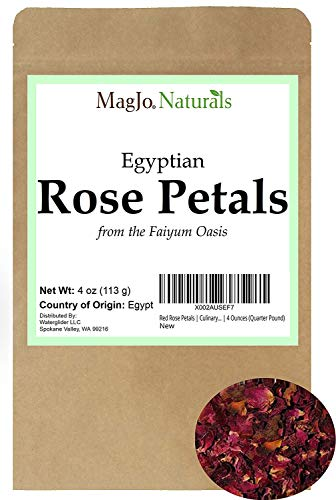 Red Rose Petals, Dried | Culinary Grade A | Egyptian fields in...