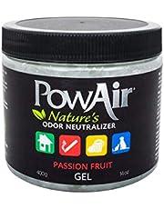 PowAir Gel – Neutralizador de olores profesional de aceites esenciales, regenera el aire en entornos domésticos, libera un agradable perfume Passion Fruit durante 500 horas | Solución en gel – 500 ml