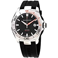Davidoff Velocity Diver Automatic Black Dial Black Rubber Men's Watch (22440)