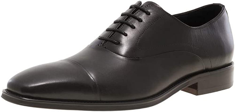 JUMP NEWYORK Men's Marshall Fashionable | Light Weight | Hand Painted Leather | Cap Toe | Lace-up | Formal Shoes | Oxford Shoes | Dress Shoes for Men
