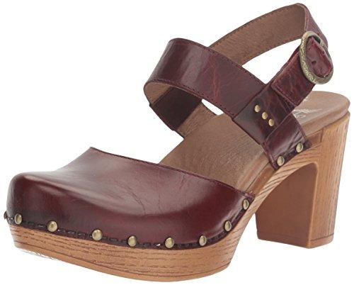 Dansko Women's Dotty Heeled Sandal, Ruby Vintage Pull Up, 40 EU/9.5-10 M US