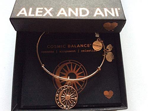 Alex and Ani Women's Cosmic Balance II ROG Bracelet, Shiny Rose Gold
