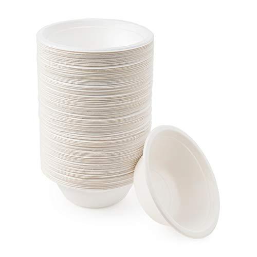 matana -100 Stück Zuckerrohr Pappschalen - 350 ml - Mikrowellenfest & Biologisch Abbaubar