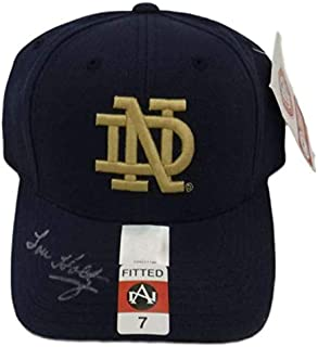 Lou Holtz Autographed Notre Dame Fighting Irish Fitted Size 7 Hat JSA
