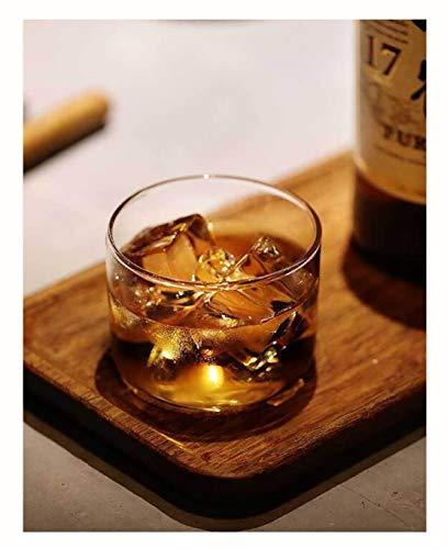 ZHSB ZXY wijnglas met houten houder, type bergen, theeglas in Japanse stijl, wijn en whisky-glas