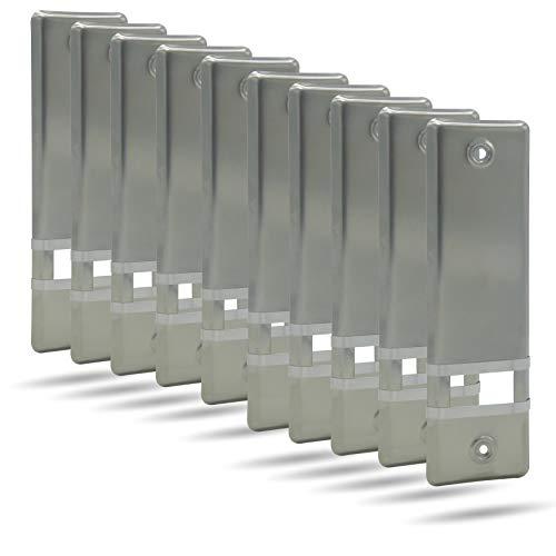 10x Rolladengurt Abdeckung Gurtwicklerblende | Edelstahl | 185mm | ohne Gurtausbau