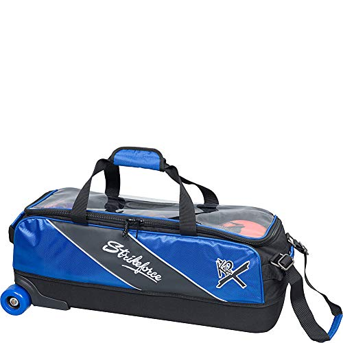 KR Strikeforce Strikeforce Bowling Bags Strikeforce Fast Slim Triple Bowling Bag- Royal, Royal