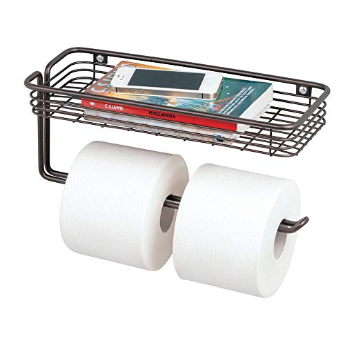 Top 10 best selling list for toilet tissue paper holder and multi-purpose shelf bronze