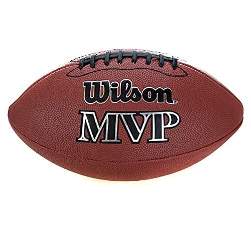 Wilson WTF1411XB Pelota de fútbol Americano NFL MVP Material Compuesto para Juego recreativo, Unisex, Marrón, Talla Única 🔥
