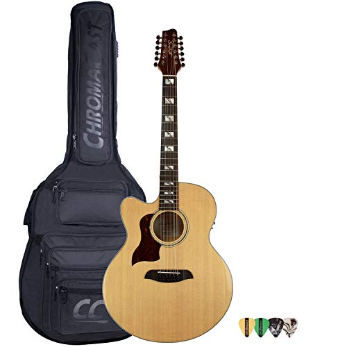 Sawtooth Maple Series Left-Handed 12-String Acoustic-Electric Cutaway Jumbo Guitar...