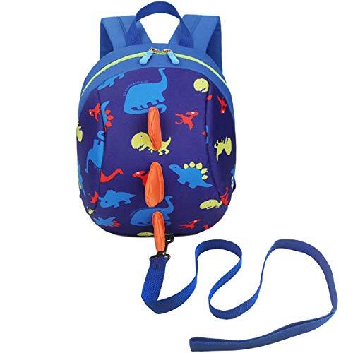 DB Mochila de dinosaurio para niños pequeños con cuerda de seguridad anti-perdida,...