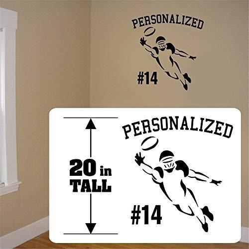 autocollant mural stickers muraux chambre Football personnalisé décalque joueur de football mur Fat Head style autocollant autocollant salle de jeux chambre d'enfants chambre de garçons