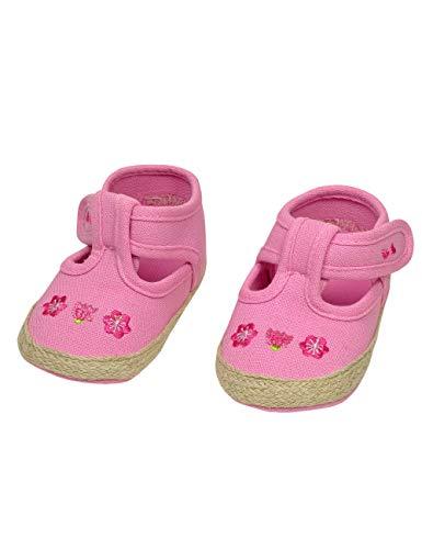 maximo 85203 Süße Baby Lauflernschuhe m.Rutschfester Sohle rosa Blümchen (18 EU, Rosa)