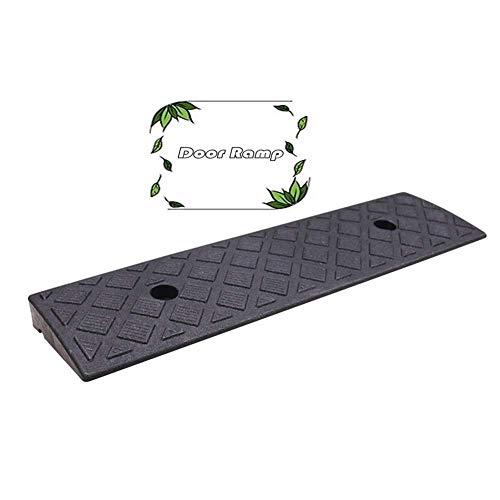 XBSXP Rampas de bordillo de Goma Umbral Antideslizante Escaleras para sillas de Ruedas Costura de Bicicleta Cuesta Arriba La rampa de plástico de PVC Impermeable se Puede almacenar, 2 co