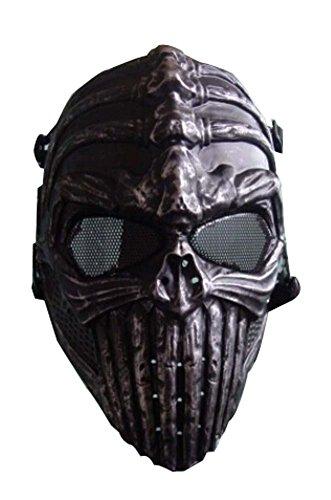 Enfants Halloween mascarade masque enfants Balls Squelette Fer Gris