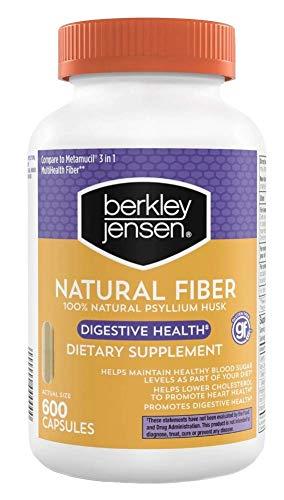 BJ's Natural Fiber Capsules 600 ct,100% Natural Psyllium Husk