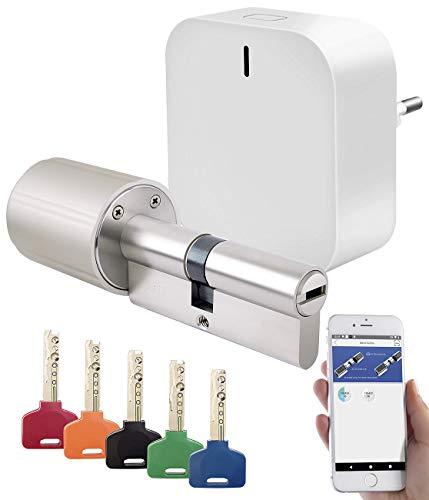 VisorTech Türöffner: Elektronischer Tür-Schließzylinder mit 5 Schlüssel und ZigBee Gateway (Türschloss Smart)