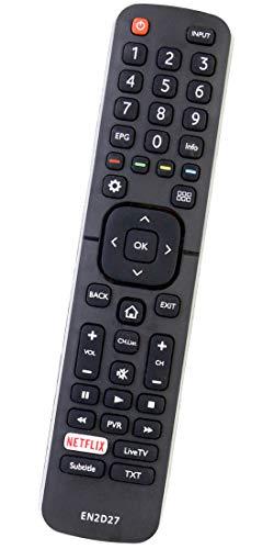 ALLIMITY EN2D27 Fernbedienung Ersatz für Hisense UHD TV 40K321 50EC591 55EC591 55K321ST2 58K700 65K720 40EC591 50K321 55K321 55K720 65K700 EC591 LTDN50K321