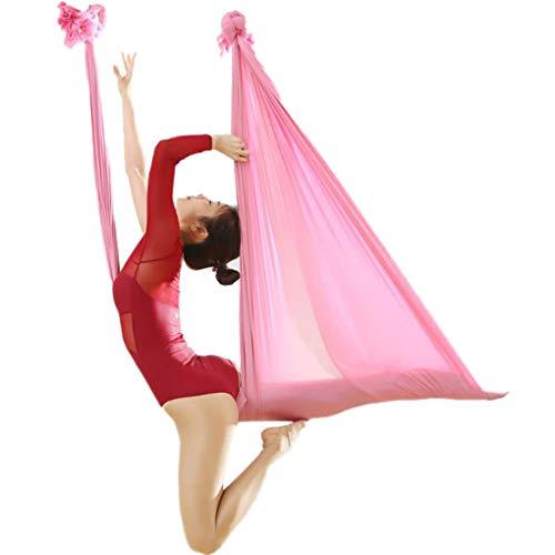 LASERIPLF Aerial Yoga Flying Hammock Swing Set Aerial Yoga Hammock Silk Fabric With Carabiner & Daisy Chain for Yoga Anti-gravity Pilates, Yoga Inversion Tool 6m
