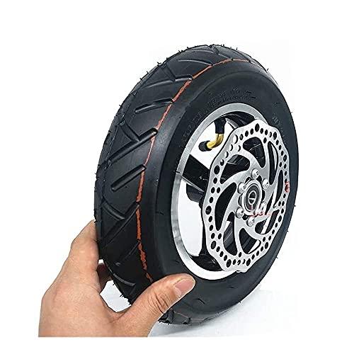 HMHMVM Neumáticos para Scooters eléctricos, 10 Pulgadas inflados al vacío en Todas Las Ruedas, Juego de neumáticos 10x2.50, Incluidas Pastillas de Freno de Disco, Adecuado para Llantas sólidas de r