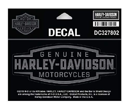 Harley-Davidson Velocity Text-Aufkleber, SM-Größe 12,7 x 5,1 cm, Schwarz & Silber DC327802
