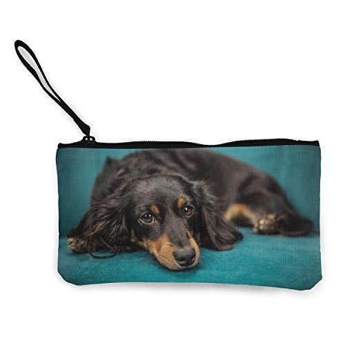 Yuanmeiju Hund Welpe Haustier Tier Sofa Nette Leinwand Wechsel Münze Brieftasche Tasche Tasche Reißverschluss Halter Geldbörse Handgelenk Riemen Make-up Bleistift Fall angepasst