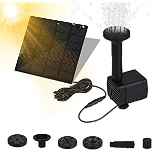 Fuente Solar Bomba, Bomba de Agua Solar, Fuente Solar con Panel Solar, Bomba Flotante, Fuentes Solares para Jardin…
