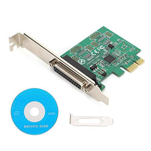 Shipenophy Convertidor de expansión de Tarjeta de expansión PCI-E Resistente al Desgaste antirrayas a Puerto Paralelo Durable Excelente para PC para Impresora