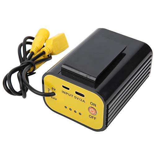 SALALIS Soporte de batería, Caja de batería No Necesita Soldadura por Puntos Caja de batería 18650 de Alto Rendimiento de Seguridad para alimentarse con Luces de automóviles eléctricos y Luces USB
