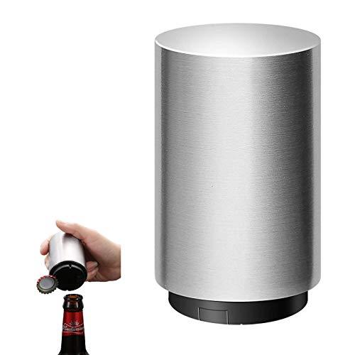 HUICHENG Flaschenöffner,Bierflaschenöffner Automatischer Edelstahl Flaschenöffner Magnet Flaschenöffner Eine Sekunde, um die Kappe zu öffnen, Coole Küche Gadget. Bars, Partys (Silver)