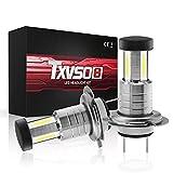 TXVSO 18000LM H7 Kit de faro LED para automóvil 3 lados 6000K Lámparas blancas, 55W / Bombilla, 2pcs / Set, Reemplazo para luces halógenas y de xenón o luces bajas