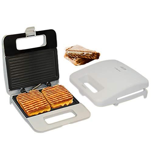 Sandwichmaker, draagbare broodmachine, ontbijtspanini, gezonde, olievrije sandwich, levensmiddelenkwaliteit, anti-aanbakpan wit