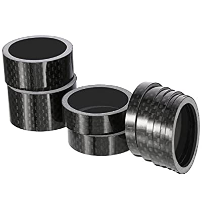 Sumind 11 Pieces Bike Carbon Fiber Headset Spacer Bicycle 1-1/8 Inch 20 15 10 5 3 2 1 mm, 7 Size