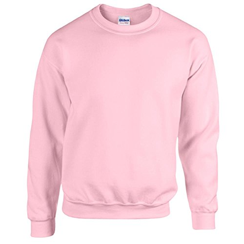 Gildan Heavy Blend Erwachsenen Crewneck Sweatshirt 18000 S, Light Pink